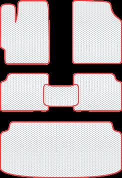 Полный комплект ковриков eva profy в салон с багажником