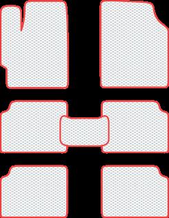 Комплект ковриков eva profy в салон на 3 ряда